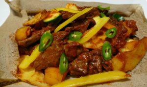 restaurant éthiopien - menu du jour